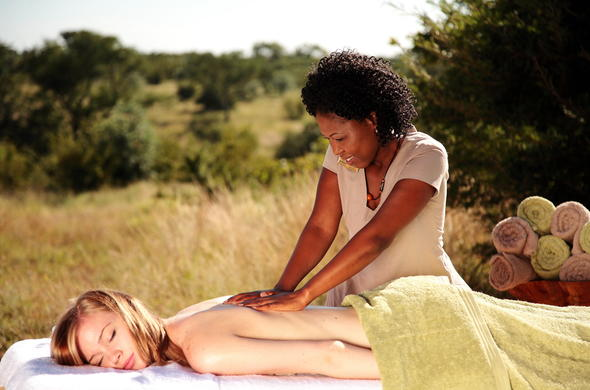Enjoy wellness treatments surrounded by the bush.