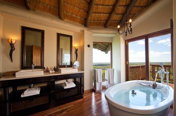 Ulusaba Rock Lodge has stunning bathrooms.